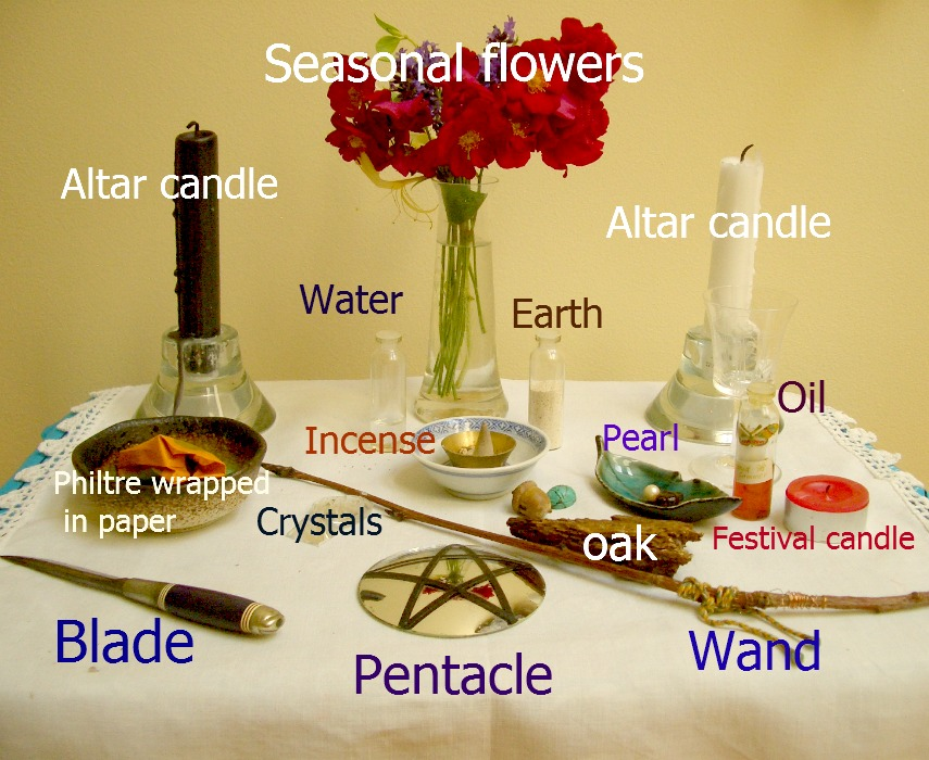 A Witches Altar: How To Decorate Your Altar for Sabbats or Holidays